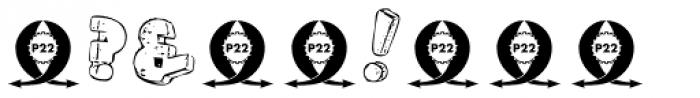 P22 Pop Art Three D Font OTHER CHARS
