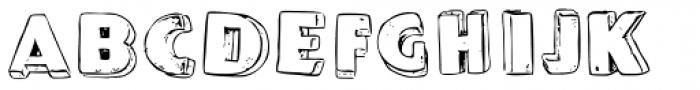 P22 Pop Art Three D Font LOWERCASE