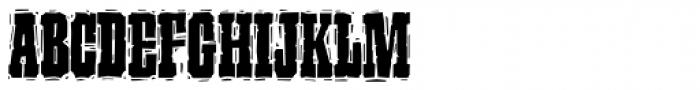 P22 Ruffcut Woody Font UPPERCASE