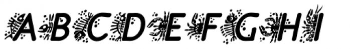 P22 Speyside Bold Initials Italic Font UPPERCASE