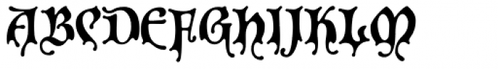 P22 Spooky Font UPPERCASE