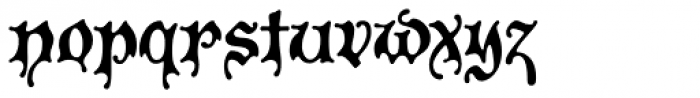 P22 Spooky Font LOWERCASE