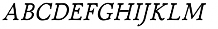 P22 Stickley Pro Caption Italic Font UPPERCASE