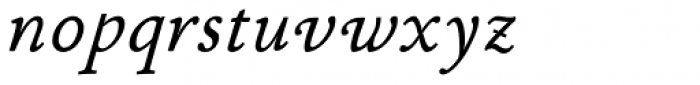 P22 Stickley Pro Caption Italic Font LOWERCASE