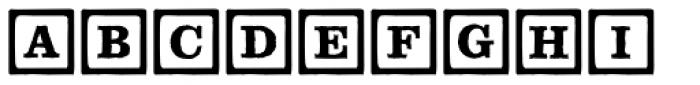 P22 ToyBox Blocks Line Font UPPERCASE