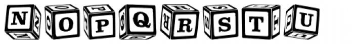 P22 ToyBox Blocks Font LOWERCASE