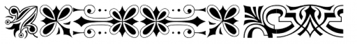 P22 Victorian Ornaments One Font UPPERCASE