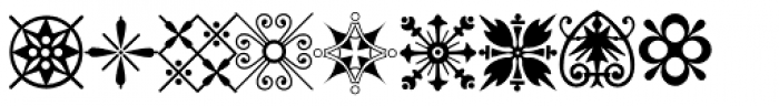 P22 Victorian Ornaments Two Font LOWERCASE