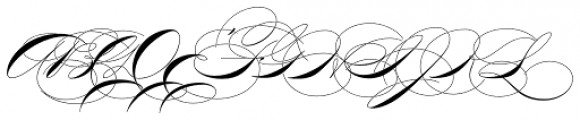 P22 Zaner Three Font UPPERCASE