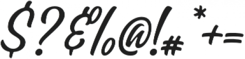 Pacific Coast Script Rounded Regular otf (400) Font OTHER CHARS