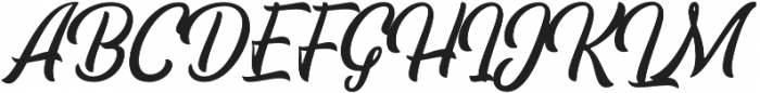 Pacific Coast Script Rounded Regular otf (400) Font UPPERCASE