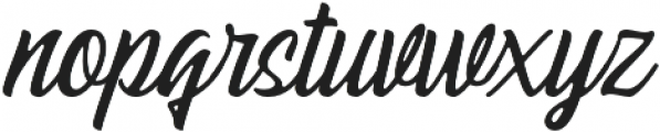 Pacific Coast Script Rounded Regular otf (400) Font LOWERCASE