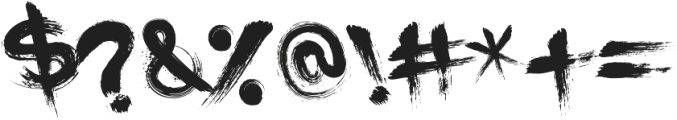 PaintCans otf (400) Font OTHER CHARS