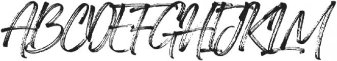 Painted Brush Regular otf (400) Font UPPERCASE