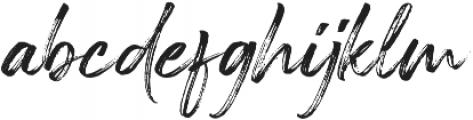 Painted Brush Regular otf (400) Font LOWERCASE