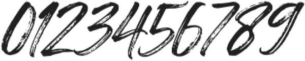 Painted Brush Slant Regular otf (400) Font OTHER CHARS
