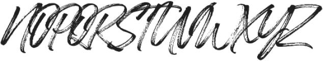 Painted Brush Slant Regular otf (400) Font UPPERCASE