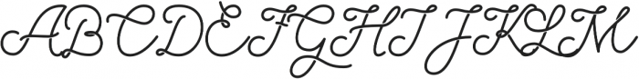 Palm Beach Script Clean otf (400) Font UPPERCASE