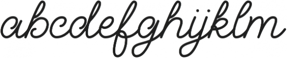 Palm Beach Script Clean otf (400) Font LOWERCASE