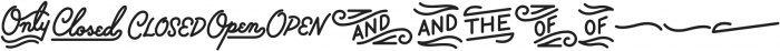 Palm Canyon Drive Bonus Glyphs Heavy otf (800) Font UPPERCASE