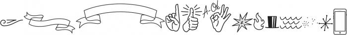 Palm Canyon Drive Bonus Glyphs Light otf (300) Font UPPERCASE