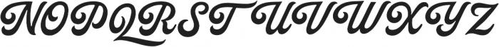Palmer Script Regular otf (400) Font UPPERCASE