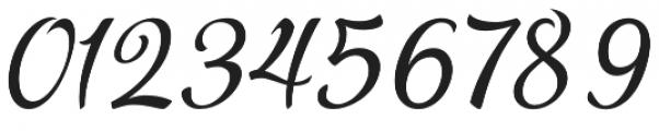 Pamega Script otf (400) Font OTHER CHARS