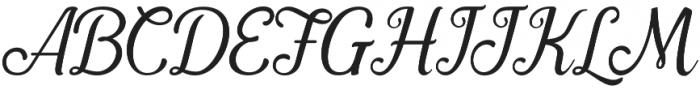 Pamega Script otf (400) Font UPPERCASE