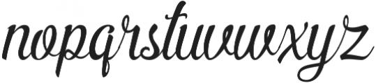Pamega Script otf (400) Font LOWERCASE