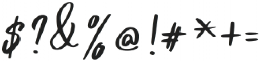 Pandertoos Signature Regular otf (400) Font OTHER CHARS