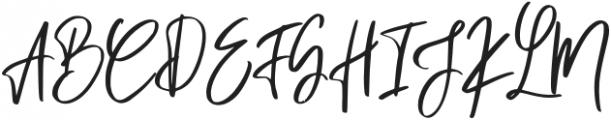 Pandertoos Signature Regular otf (400) Font UPPERCASE