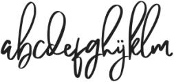 Pandertoos Signature Regular otf (400) Font LOWERCASE