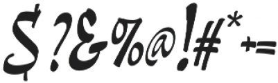 Pando Script Slanted otf (400) Font OTHER CHARS