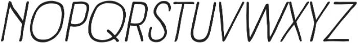 Panforte Pro Light Italic otf (300) Font UPPERCASE
