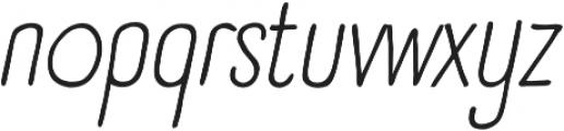 Panforte Pro Light Italic otf (300) Font LOWERCASE