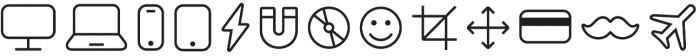 Panton Icons A Regular otf (400) Font UPPERCASE