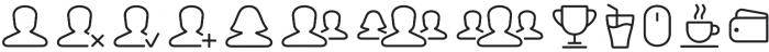 Panton Icons A Regular otf (400) Font LOWERCASE