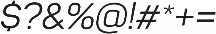 Panton Regular Italic otf (400) Font OTHER CHARS