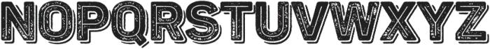 Panton Rust Black Grunge Inline Shadow otf (900) Font LOWERCASE