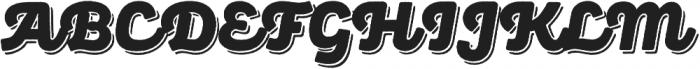Panton Rust Script Black Base Shadow otf (900) Font UPPERCASE