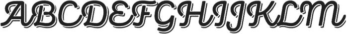 Panton Rust Script SemiBold Base Shadow otf (600) Font UPPERCASE
