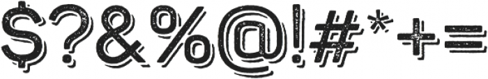 Panton Rust SemiBold Grunge Shadow otf (600) Font OTHER CHARS