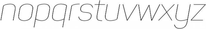 Panton Thin Italic otf (100) Font LOWERCASE
