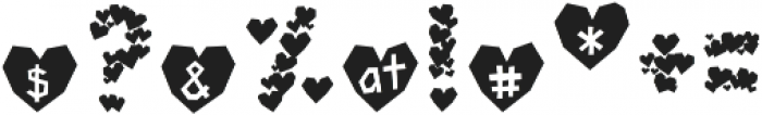 Paper Hearts otf (400) Font OTHER CHARS