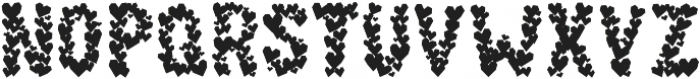 Paper Hearts otf (400) Font UPPERCASE