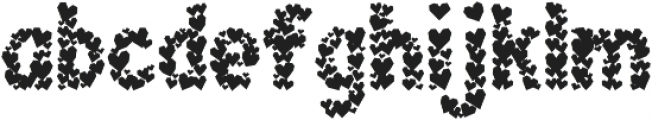 Paper Hearts otf (400) Font LOWERCASE