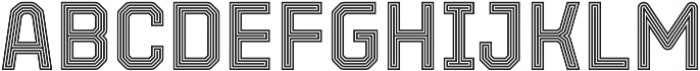 Parco Double Outline Inline otf (400) Font UPPERCASE