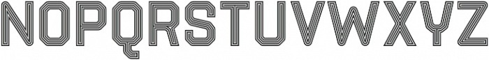 Parco Double Outline Inline otf (400) Font LOWERCASE