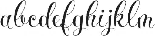 Parisi otf (400) Font LOWERCASE