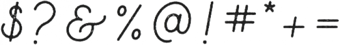 Parks Script Rough otf (400) Font OTHER CHARS